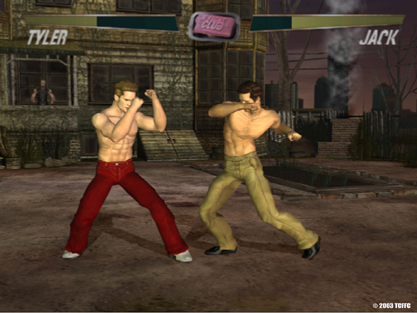 Screen shot: Tyler vs. Jack in the upcoming Fight Club videogame.