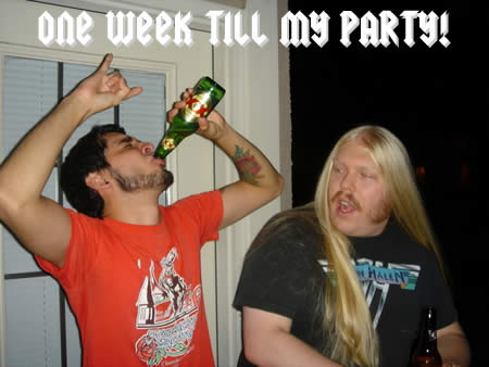 Photo: 'One week till my party!'