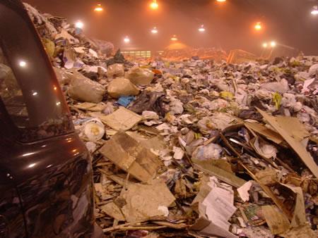 Photo: The trash pile at Toronto's Bermondsey Transfer Station.