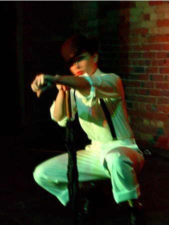 Photo: One of the burlesque acts at Skin Tight Outta Sight's Halloween show at the Gladstone Hotel.