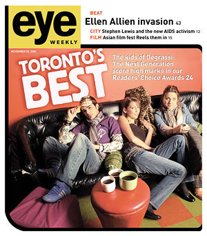 Photo: Cover of the November 25, 2004 issue of 'eye' Magazine, featuring the 2004 Readers' Choice Awards.