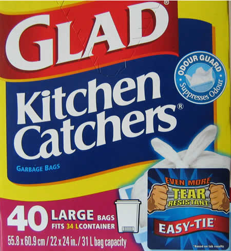 Photo: Glad bags packaging.