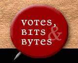 Photo: Votes, Bits and Bytes logo.