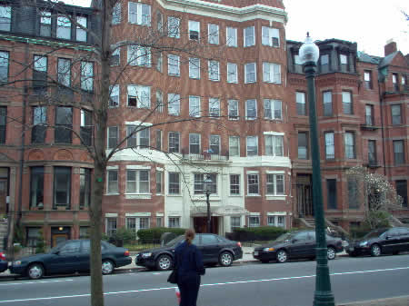 Photo: Wendy looking at my first North American home, 250 Commonwelath Ave., Boston, MA.