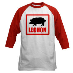 Photo: 'Lechon' baseball shirt.