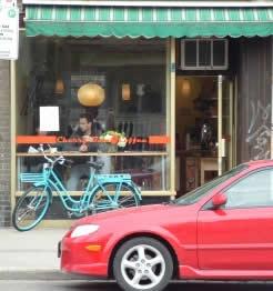 Photo: Cherry Bomb Coffee's storefront.