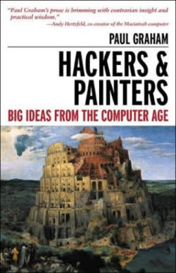 Book cover: Paul Graham's 'Hackers and Painters'.