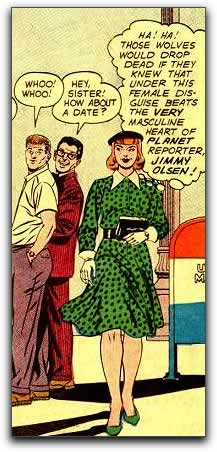 Comic: Scene from 'Miss Jimmy Olsen!'.