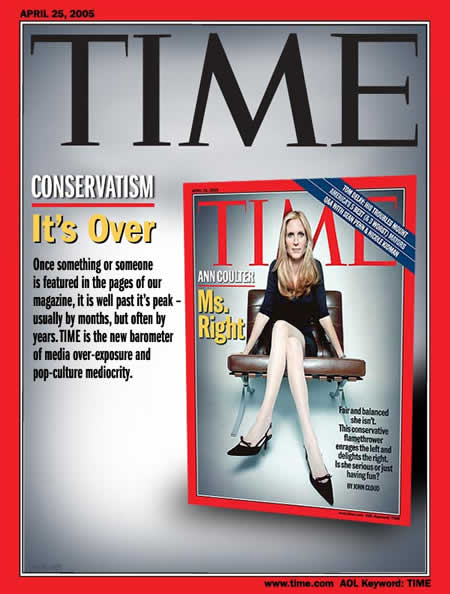 Photo: Parody of 'Time' magazine cover featuring Ann Coulter.