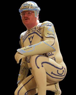 Photo: Jeff Maynard in his Tron costume.