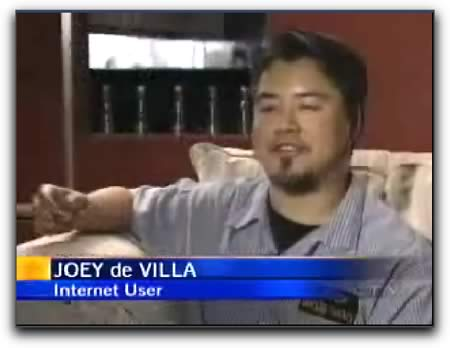 Photo: Still from Joey deVilla's interview on CTV News, June 8, 2005.