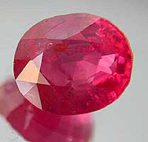 Photo: Ruby gemstone.