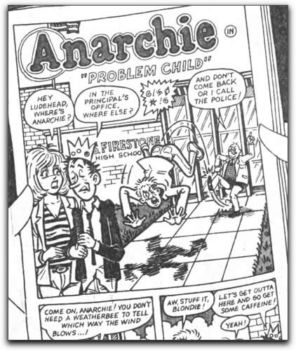 Comic sample: Anarchie