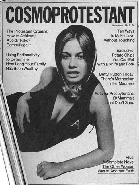 Photo: Magazine parody -- 'Cosmoportestant'.