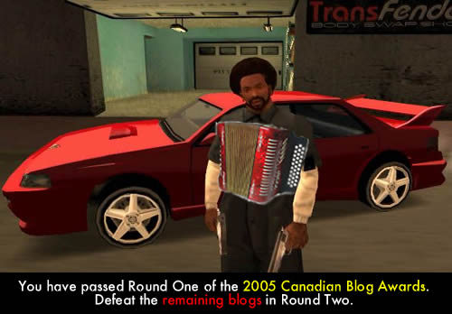 Graphic: Parody of a mission briefing from 'Grand Theft Auto: San Andreas'.