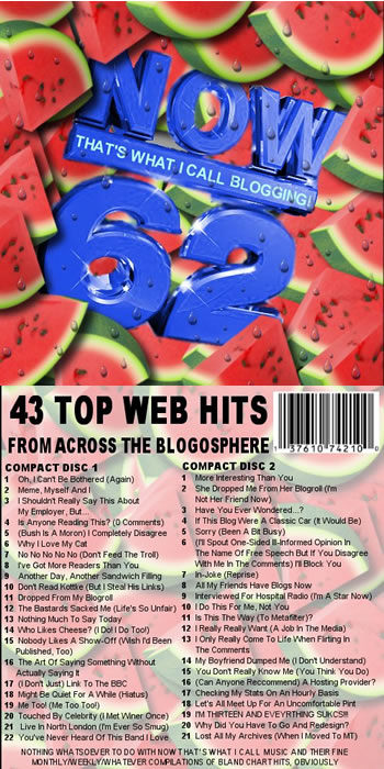 Photo: Album parody: 'Now That's What I Call Blogging 62'.
